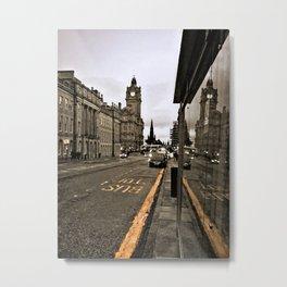 Bus Stop - Edinburgh Metal Print