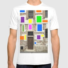 Wall Of Many Colors Mens Fitted Tee MEDIUM White