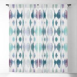 Light As Air Teal Purple Pattern Blackout Curtain