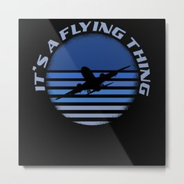 It's A Flying Thing Blue Sky Fly High Metal Print