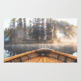 Canoe in the Lake Rug