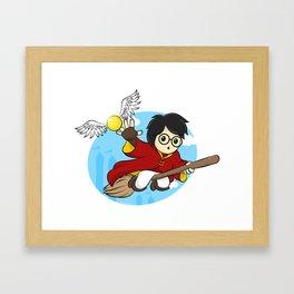 HP - Snitch catcher Framed Art Print