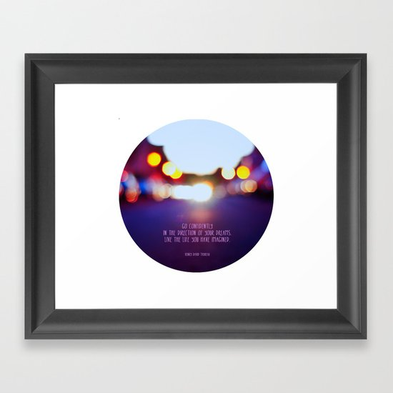 Live your dreams Framed Art Print
