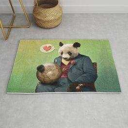 Wise Panda: Love Makes the World Go Around! Rug