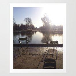 Garden Reflections Art Print
