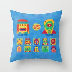 Fantastic Fighters Throw Pillow