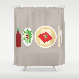 Sriracha Meal Shower Curtain