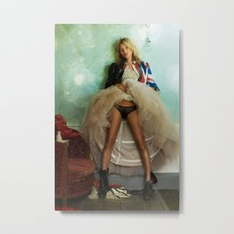 Kate Moss wing mirror , Home Décor Metal Print