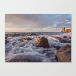 Seascape at sunset Canvas Print