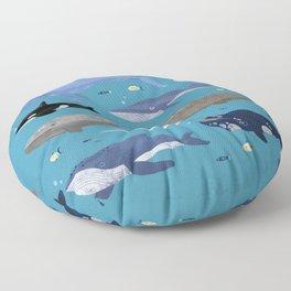 Whale Species Floor Pillow