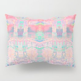 Totem Cabin Abstract - Pastel Pillow Sham