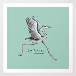 HeRUN Art Print