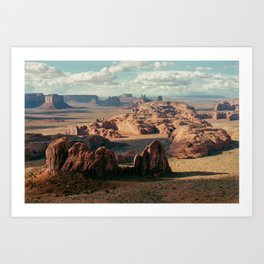 Monument Valley Overview Art Print