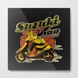 Suzuki V100 Skull Ride Metal Print