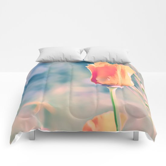Orange flowers. Comforters