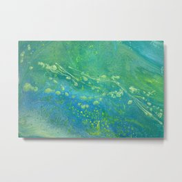 Beach Series Jellyfish Bloom Metal Print