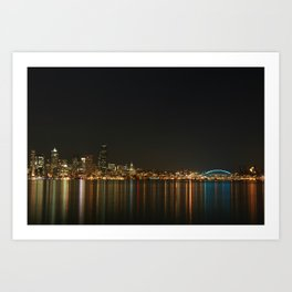 Beautiful Skyline of Seattle Art Print