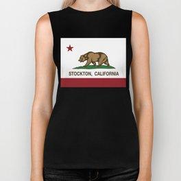 Stockton California Republic Flag Biker Tank