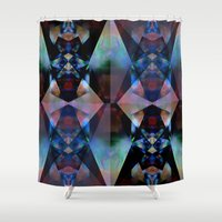 rave Shower Curtains featuring Rave Crystal by Ava Danielle Cartner