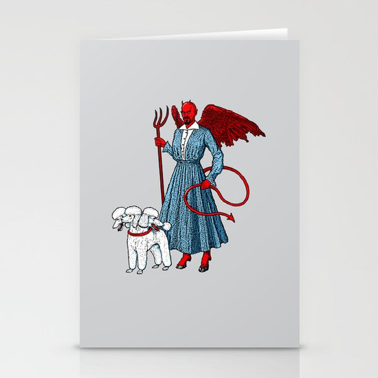 Devil With A Blue Dress On Stationery Cards