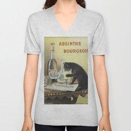 Vintage poster - Absinthe Bourgeois Unisex V-Neck