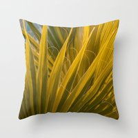 palm Throw Pillows featuring Palm by Moonworkshop