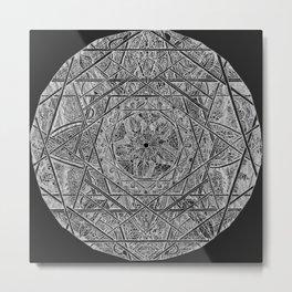 Milkweed Mandala | Lace Edition Metal Print