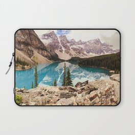 Moraine Lake III Banff Summer Mountain Reflection Laptop Sleeve