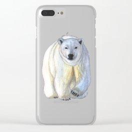 Polar bear in the icy dawn Clear iPhone Case