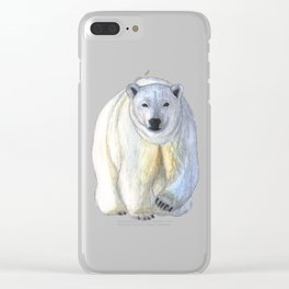 Polar bear in the icy dawn Clear iPhone Case