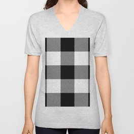 Big Buffalo Plaid Unisex V-Neck