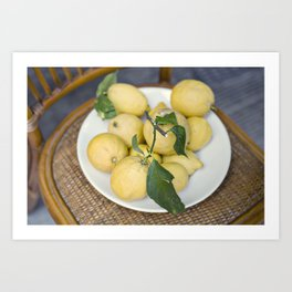 when life hands you lemons::cinque terre, italy Art Print