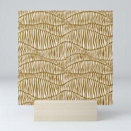 Abstract Soil Layers in Mustard Mini Art Print
