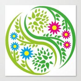 Yin Yang Flower Canvas Print