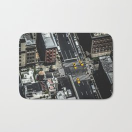 Little Yellow Cabs Bath Mat