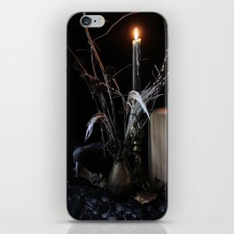 The Raven and the Departed Bouquet iPhone Skin