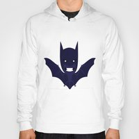 bat man Hoodies featuring bat by Nir P