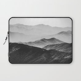 Glimpse - Black and White Mountains Landscape Nature Photography Laptop Sleeve