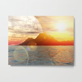 Sunny day on alien planet Metal Print