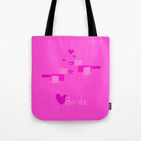 Love Birds-Pink Tote Bag
