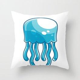 Jellyfish Animal Throw Pillow