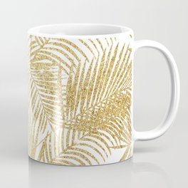 Elegant faux gold glitter tropical plants pattern Coffee Mug