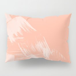 Sweet Life Paint Swipes Peach Coral Pink Pillow Sham