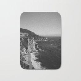 Monochrome Big Sur Bath Mat
