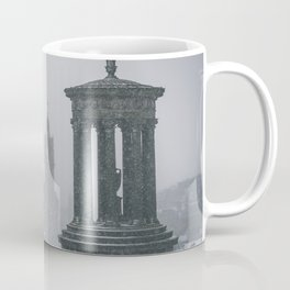 Blizzard over Edinburgh city Coffee Mug