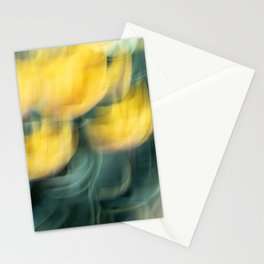 Yellow Tulip Waves Stationery Cards