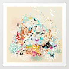 under the water wonderland Art Print