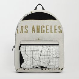Los Angeles - Vintage Map and Location Backpack