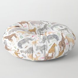 Safari Animals Floor Pillow