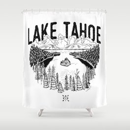 Lake Tahoe - We Who Wander Threads Shower Curtain